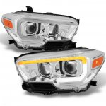 Toyota Tacoma SR 2016-2020 Chrome LED DRL Projector Headlights Dynamic Signal
