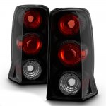 Cadillac Escalade 2002-2006 Black Smoked Euro Tail Lights