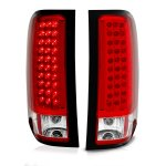 Chevy Silverado 2007-2013 LED Tail Lights Red and Clear