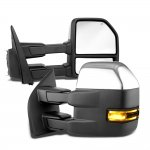 Ford F150 2004-2008 New Chrome Towing Mirrors Power Heated Smoked LED Signal Puddle Lights