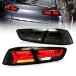 Mitsubishi Lancer 2008-2017 Smoked Tube LED Tail Lights