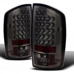 Dodge Ram 3500 2006-2009 Smoked LED Tail Lights