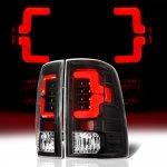 Dodge Ram 2009-2018 Black Custom LED Tail Lights Red Tube
