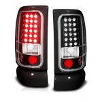 Dodge Ram 1994-2001 LED Tail Lights Black