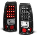 2002 Chevy Silverado LED Tail Lights Black