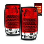 Toyota Pickup 1989-1995 LED Tail Lights Red and Clear