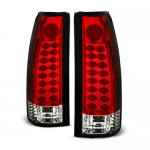 GMC Sierra 3500 1988-1998 Red and Clear LED Tail Lights