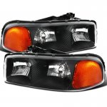 GMC Sierra 3500 2001-2007 Black Euro Headlights