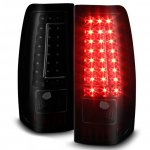 GMC Sierra 3500 1999-2006 Black Smoked LED Tail Lights C-DRL