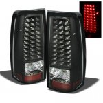 2002 Chevy Silverado Black LED Tail Lights
