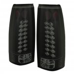 Chevy Silverado 1988-1998 Black Smoked LED Tail Lights