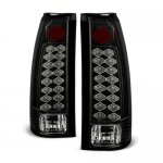 1989 Chevy Silverado Black LED Tail Lights