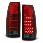 Chevy 1500 Pickup 1988-1998 Red and Smoked LED Tail Lights