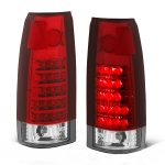GMC Yukon 1992-1999 Red and Clear LED Tail Lights