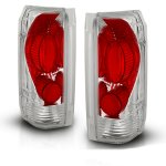 1992 Ford F150 Clear Custom Tail Lights