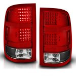 GMC Sierra 2007-2013 LED Tail Lights Red and Clear with Black Housing