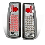 Chevy 1500 Pickup 1988-1998 Chrome LED Tail Lights