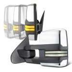 Chevy Silverado 2500HD 2007-2014 Chrome Power Folding Tow Mirrors Smoked Switchback LED DRL Sequential Signal