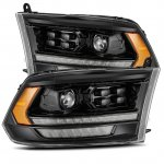 Dodge Ram 2009-2018 HD LED DRL Blackout Projector Headlights AlphaRex