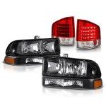 Chevy S10 1998-2004 Black Headlights and Red LED Tail Lights