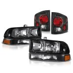 Chevy S10 1998-2004 Black Headlights and Tail Lights