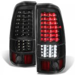Chevy Silverado 2003-2006 Black Full LED Tail Lights
