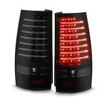 GMC Yukon Denali 2007-2014 Black Smoked LED Tail Lights