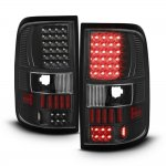 2005 Ford F150 Black LED Tail Lights