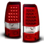 GMC Sierra 2004-2006 LED Tail Lights Red and Clear