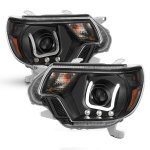 Toyota Tacoma 2012-2015 Black Projector Headlights LED DRL