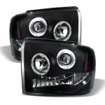 Ford F450 Super Duty 2005-2007 Black Smoked Projector Headlights