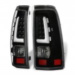 Chevy Silverado 1999-2002 Black Tube LED Tail Lights