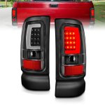 Dodge Ram 1994-2001 Black LED Tail Lights tube