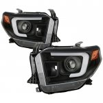 2014 Toyota Tundra Black DRL LED Projector Headlights