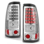 Chevy Silverado 2003-2006 LED Tail Lights Chrome