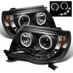 Toyota Tacoma 2005-2011 Black CCFL Halo Projector Headlights with LED