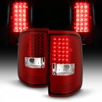 2005 Ford F150 Red Clear LED Tail Lights