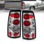 Chevy Silverado 1999-2002 Chrome Custom Tail Lights