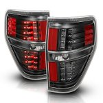 Ford F150 2009-2014 Black LED Tail Lights