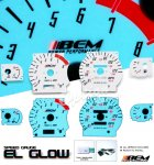 Saturn S Series 1997-1998 Glow Gauge Cluster Face Kit