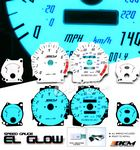 1991 Acura Integra Glow Gauge Cluster Face Kit