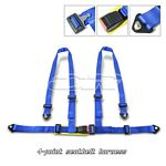 Blue 4 Point Racing Seat Belt Harness