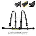 Black 4 Point Racing Seat Belt Harness