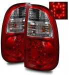 Toyota Tundra 2005-2006 LED Tail Lights Red and Clear