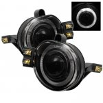 2008 Dodge Ram Smoked Halo Projector Fog Lights