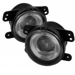 Jeep Wrangler 2007-2009 Smoked Halo Projector Fog Lights