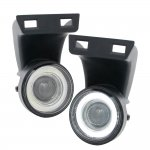 2001 Dodge Ram 2500 Clear SMD Halo Projector Fog Lights