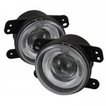 Jeep Wrangler 2007-2009 Clear Halo Projector Fog Lights