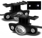 Chevy Silverado 1999-2002 Clear Projector Fog Lights with LED