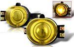2002 Dodge Ram Yellow Halo Projector Fog Lights